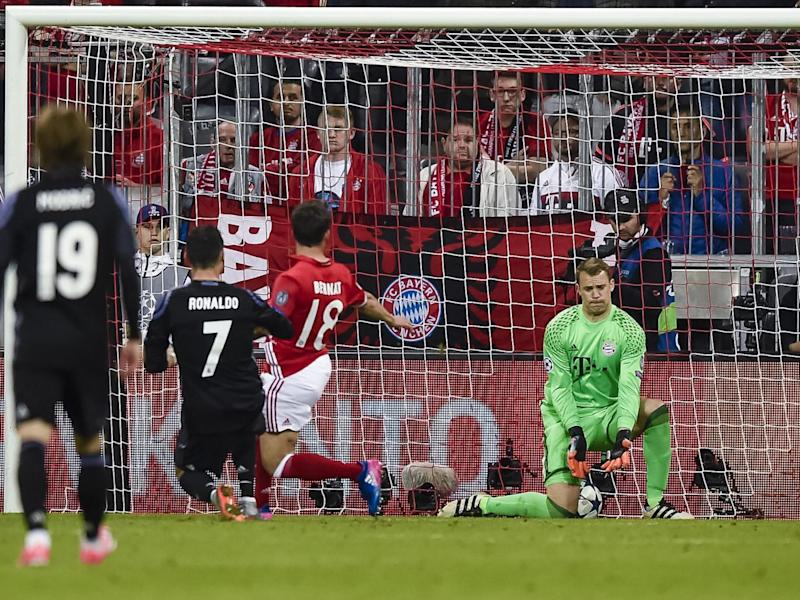 Ronaldo's second goal was squeezed under the legs of Neuer (Getty)