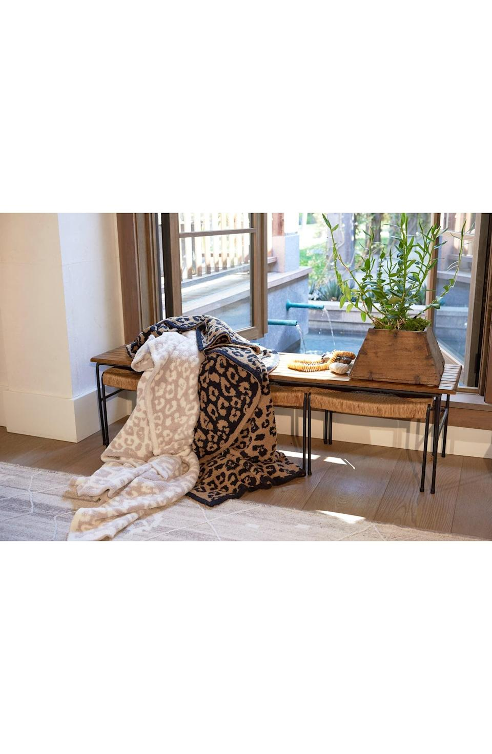 <p>These <span>Barefoot Dreams CozyChic In the Wild Throw Blankets</span> ($180) are beloved for a reason. They're insanely cozy, and make for a great gift.</p>