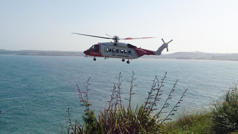 Coastguards said a man was also rescued from the sea at Torquay after tombstoning (Picture: Facebook/Torbay Coastguard)