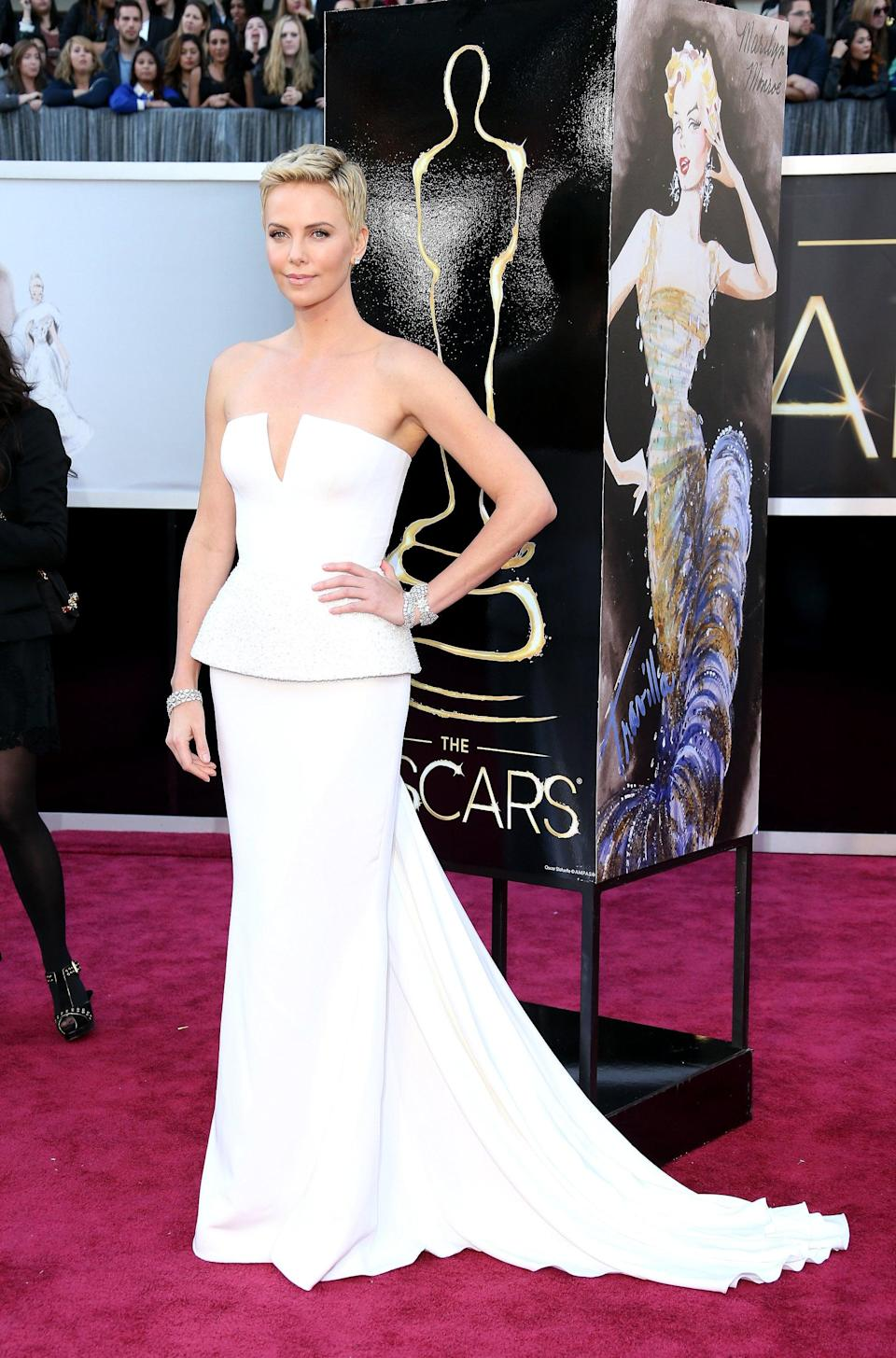 <p>The simplicity of this Dior gown didn't stop it from being one of the most stunning dresses on the red carpet in 2013.</p>