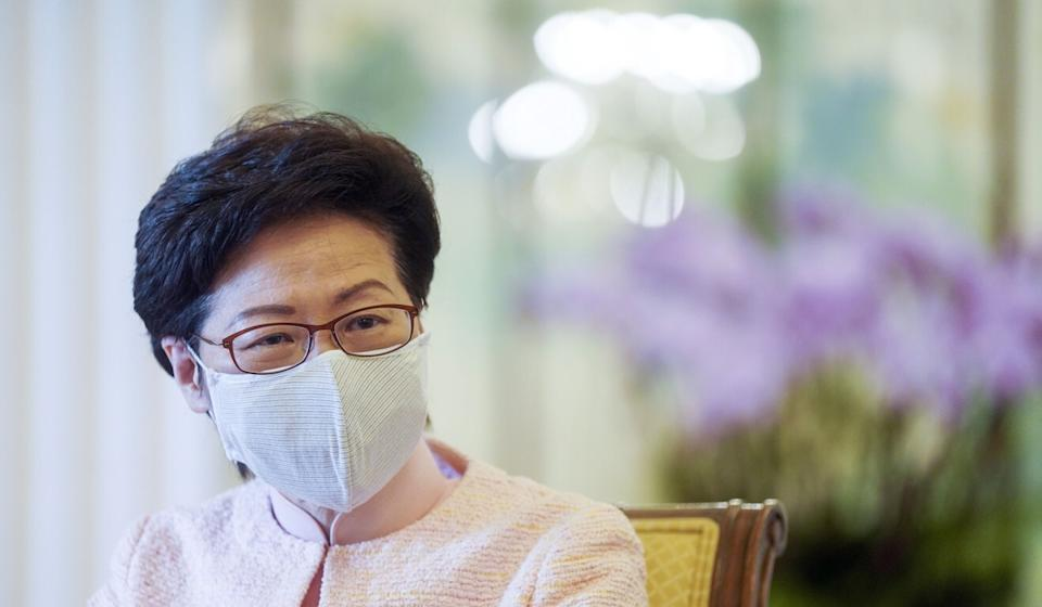 Chief Executive Carrie Lam speaks to the Post on Sunday. Photo: Sam Tsang