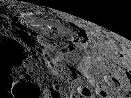 NASA's Dawn spacecraft image of the limb of dwarf planet Ceres shows a section of the northern hemisphere
