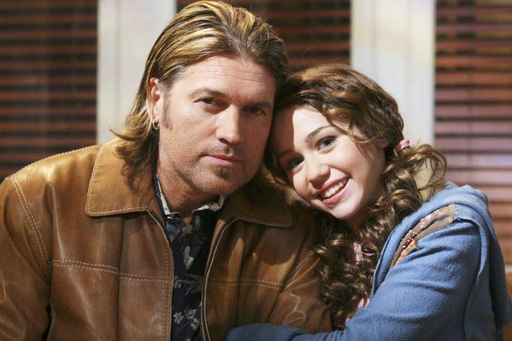 Billy Ray Cyrus and Miley Cyrus during the<em> Hannah Montana</em> years.