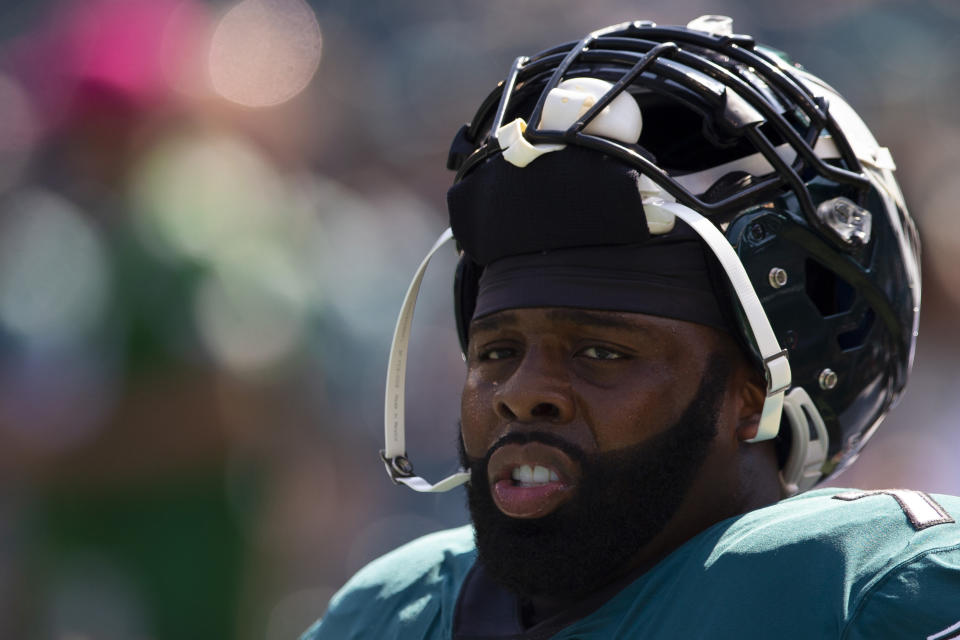 Philadelphia Eagles LT Jason Peters will return to practice on Wednesday. (Mitchell Leff/Getty Images)