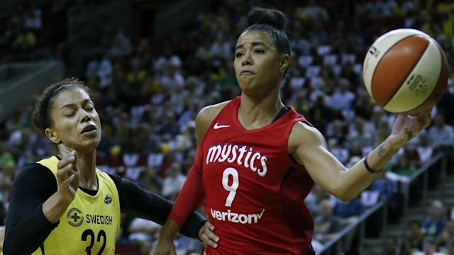 Washington Mystics players discuss WNBA travel woes due to commercial flights and look for solutions.