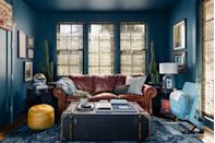 "<p>""Bold, deep jewel tones with personality will be all the rage in 2021. Not only do they provide inspiration and a lift in mood during all the hours at home, but painting the house is a fab project to stay active and feel productive in the winter months."" — <a href=""https://www.studiomunroe.com/"" rel=""nofollow noopener"" target=""_blank"" data-ylk=""slk:Emile Munroe"" class=""link rapid-noclick-resp"">Emile Munroe</a></p>"