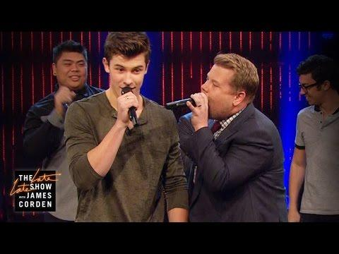 Shawn Mendes had an acapella-off with James Corden and it was