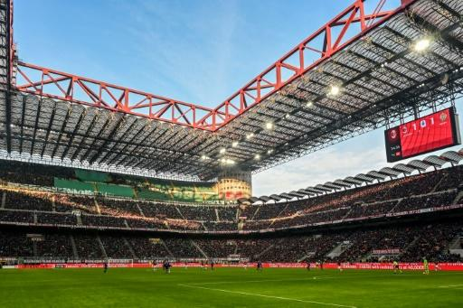 San Siro in Milan during a Serie A game between AC Milan and Verona in February. Could supporters be allowed back into matches in Italy as early as next month?