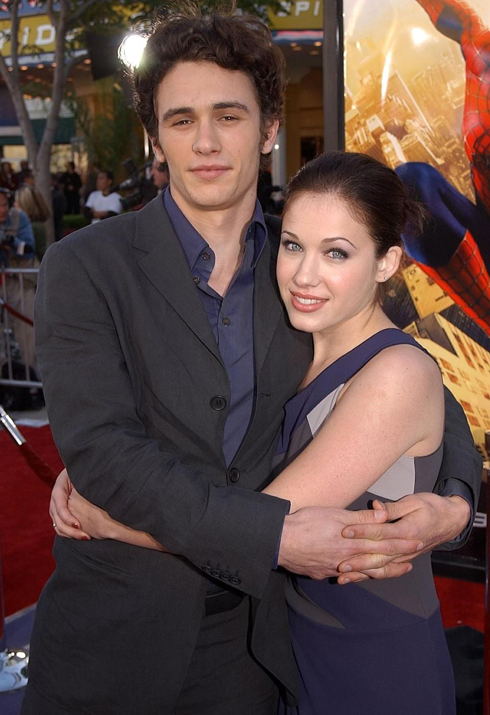 <p>Franco, who played Harry Osborn (son of Norman/Green Goblin and best friend to Peter Parker), brought then-girlfriend Sokoloff to the L.A. premiere. The <em>Whatever It Takes</em> co-stars dated for five years. (Photo: Robert Mora/Getty Images) </p>