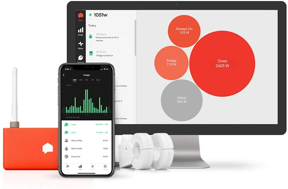 """<h2>Sense Energy Monitor</h2>If you want to reduce your energy consumption, this smart home device does just that. It'll tell you what energy sources are on in your home so that you can be more efficient. And it's $60 off until December 6. <br> <br> <strong>Sense</strong> Sense Energy Monitor, $, available at <a href=""""https://www.amazon.com/Sense-Energy-Monitor-Electricity-Usage/dp/B075K6PHJ9/"""" rel=""""nofollow noopener"""" target=""""_blank"""" data-ylk=""""slk:Amazon"""" class=""""link rapid-noclick-resp"""">Amazon</a>"""