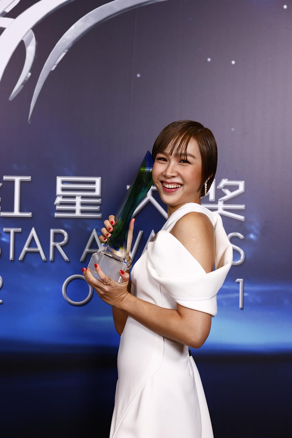 Ya Hui at Star Awards held at Changi Airport on 18 April 2021. (Photo: Mediacorp)
