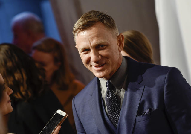 In this Monday, April 9, 2018, file photo, actor Daniel Craig attends The Opportunity Network's 11th Annual Night of Opportunity Gala at Cipriani Wall Street in New York (Photo by Evan Agostini/Invision/AP, File)
