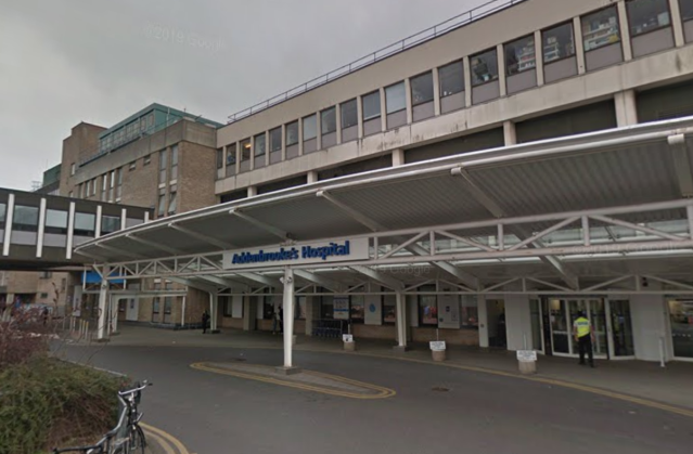 The infant died at Addenbrooke's Hospital in Cambridge. (Google)