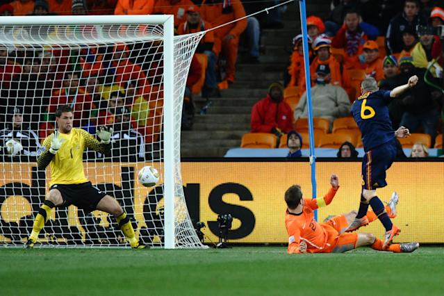 So close to glory: Holland lost the 2010 World Cup final as Spain stuck in extra time
