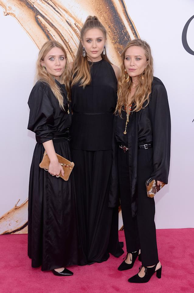 <p>Twins Mary-Kate and Ashley were born in 1986, three years before their sister Elizabeth. The trio also have three older siblings (Taylor, Trent and Jake), who stay out of the limelight.<em> [Photo: Getty]</em> </p>
