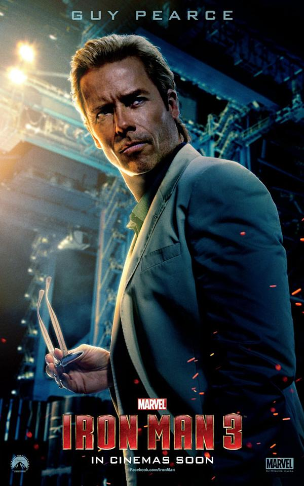 "Guy Pearce in Marvel Studios' ""Iron Man 3"" - 2013"