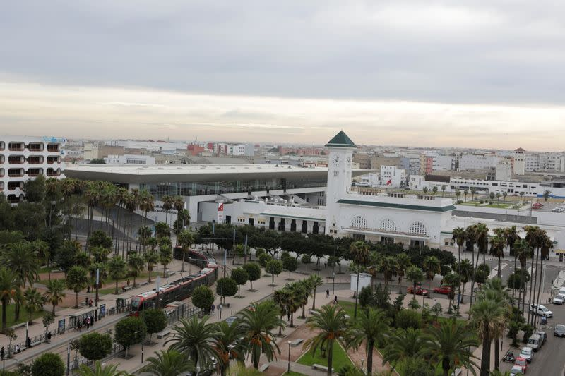 The Casa-Voyageurs train station for the new LGV (High-speed rail) line is pictured in Casablanca