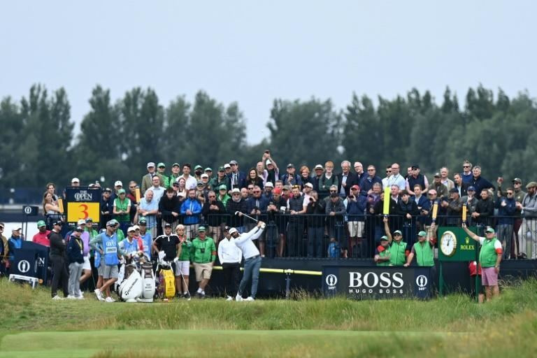 The British Open will return with crowds of up to 32,000 at Royal St George's in Kent this week