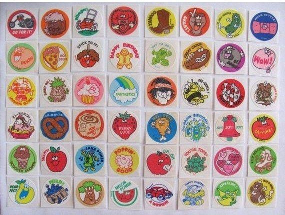 <p>Scratch 'n sniff stickers were really big in the '70s and the '80s, but they were also popular through the early '90s as well. These fun little puffy stickers were affixed to everything, whether teachers added them to tests and homework, or kids used them to decorate their notebooks, and everyone had their own favorite scent. While scratch and sniff stickers of course still exist, they don't look the same, and kids don't seem to be quite as amazed by them anymore either. </p>