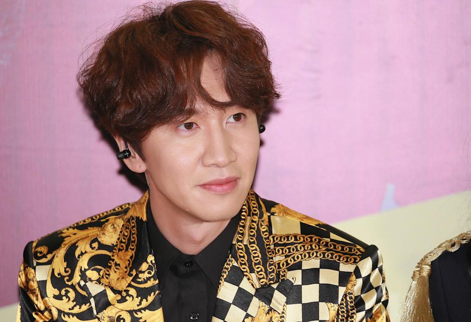 MACAO, CHINA - FEBRUARY 18:  South Korean model and actor Lee Kwang-soo attends the press conference of Running Man's concert at The Venetian Macao on February 18, 2017 in Macao, China.  (Photo by Visual China Group via Getty Images/Visual China Group via Getty Images)