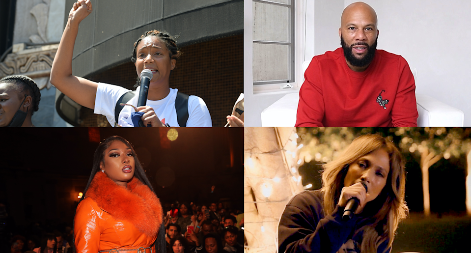 Tiffany Haddish, Common, Megan Thee Stallion and Jennifer Lopez have all joined protests. (Photo: Getty Images)