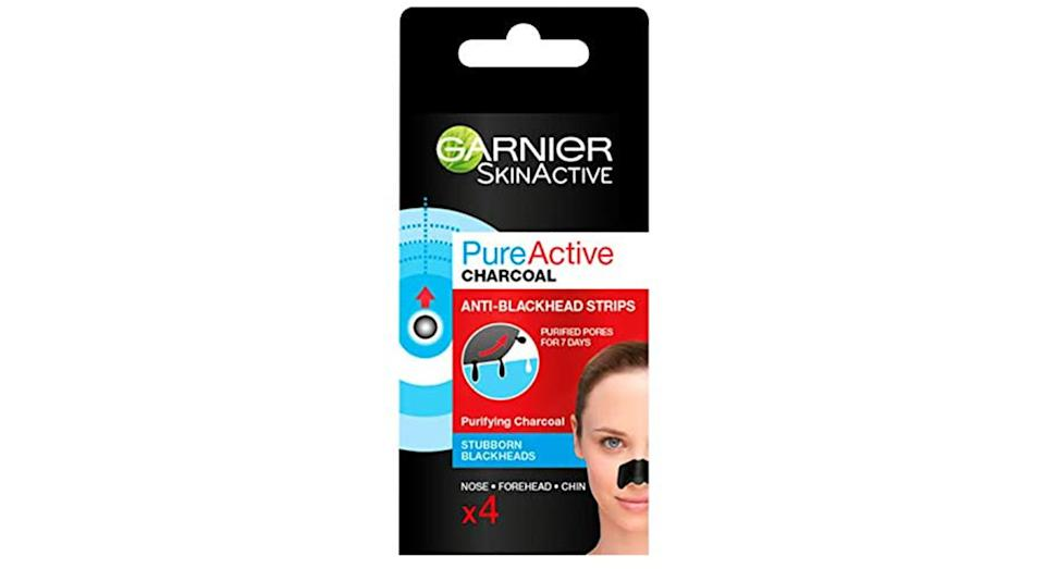Garnier Pure Active Anti-Blackhead Charcoal Nose Strips
