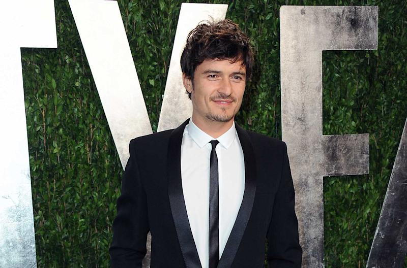 """FILE - In this Feb. 24, 2013 file photo, actor Orlando Bloom arrives at the 2013 Vanity Fair Oscars Viewing and After Party at the Sunset Plaza Hotel in West Hollywood, Calif. Bloom and Condola Rashad will star in a modern take on William Shakespeare's """"Romeo and Juliet"""" on Broadway this fall. Producers said Monday, April 1, 2013, that previews at the Richard Rodgers Theatre begin Aug. 24, with an opening night set for Sept. 19.  (Photo by Jordan Strauss/Invision/AP, File)"""