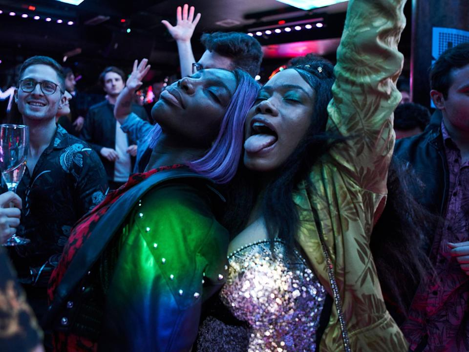 Michaela Coel and Weruche Opia dance in I May Destroy YouBBC