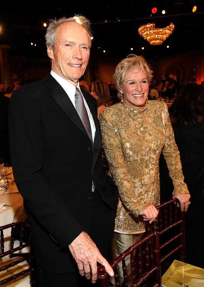 "Hollywood veterans Clint Eastwood and Glenn Close showed they could still party all night long. Alberto E. Rodriguez/<a href=""http://www.gettyimages.com/"" target=""new"">GettyImages.com</a> - January 11, 2009"
