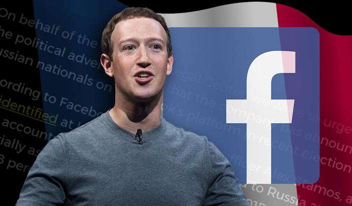 Facebook's Mark Zuckerberg. (Photo illustration: Yahoo News; photos: AP)