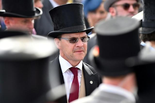 The Aidan O'Brien-trained Japan edged out the top-rated horse in the world Crystal Ocean in the Group One Juddmonte International Stakes at the Ebor meeting at York. (AFP Photo/Glyn KIRK )