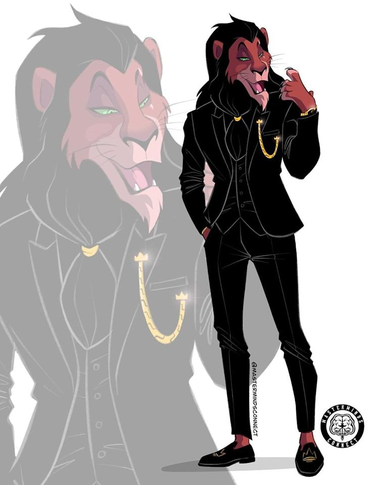 <p>This is quite possibly the most appropriate outfit possible for Scar.</p>
