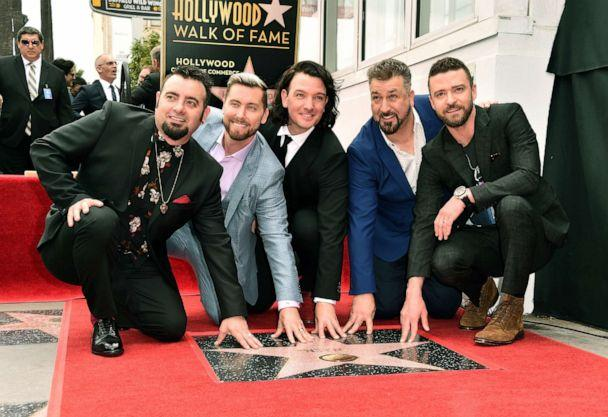 PHOTO: Singers Chris Kirkpatrick, Lance Bass, JC Chasez, Joey Fatone and Justin Timberlake of NSYNC are honored with a star on the Hollywood Walk of Fame, April 30, 2018, in Hollywood, Calif. (Alberto E. Rodriguez/Getty Images, FILE)