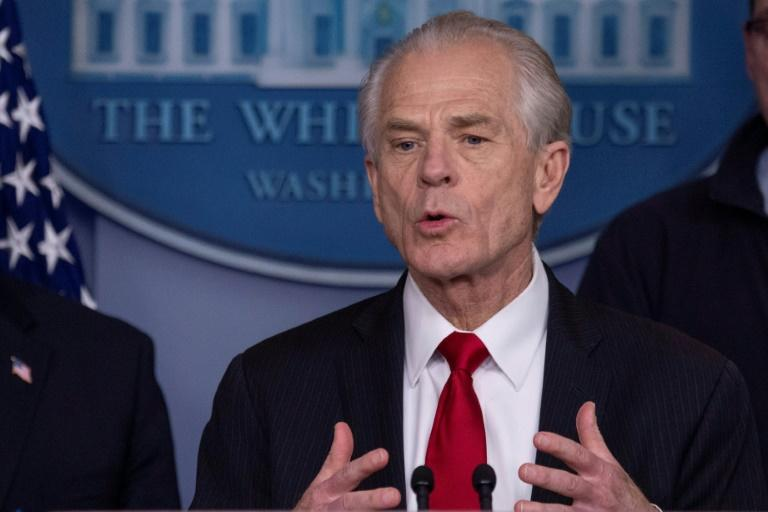 White House Trade and Manufacturing Policy Director Peter Navarro -- pictured on March 22, 2020 -- has accused China of crippling the US economy (AFP Photo/Eric BARADAT)