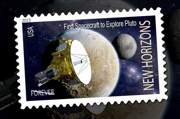 Pluto-Bound Spacecraft Gets Review for US Postage Stamp