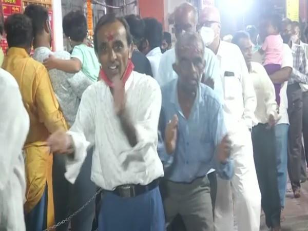 All men Garba is an ancient tradition in Vadodra's Mata Ambe Temple. (Photo/ANI)