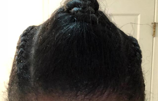 Poof! My grays and thinning edges are undetectable. (Photo: Dana Oliver for Yahoo Lifestyle)