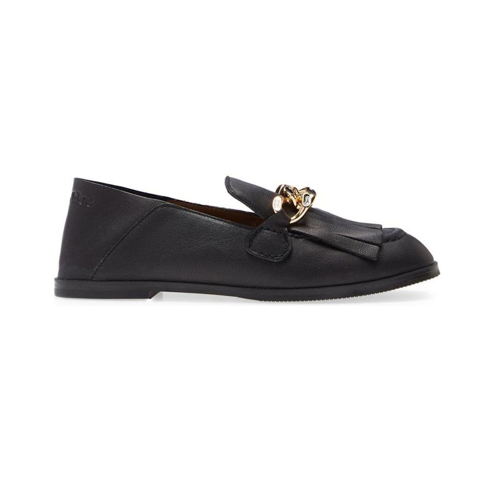 """<p><strong>SEE BY CHLOE</strong></p><p>nordstrom.com</p><p><a href=""""https://go.redirectingat.com?id=74968X1596630&url=https%3A%2F%2Fwww.nordstrom.com%2Fs%2Fsee-by-chloe-mahe-chain-convertible-loafer-women%2F5775769&sref=https%3A%2F%2Fwww.elle.com%2Ffashion%2Fshopping%2Fg36462948%2Fnordstrom-half-yearly-sale-2021%2F"""" rel=""""nofollow noopener"""" target=""""_blank"""" data-ylk=""""slk:Shop Now"""" class=""""link rapid-noclick-resp"""">Shop Now</a></p><p><strong><del>$370</del> $222 (40% off)</strong></p>"""