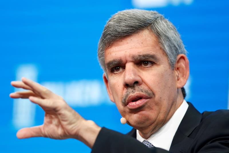 Mohamed El-Erian, Chief Economic Advisor of Allianz, speaks at the Milken Institute Global Conference in Beverly Hills