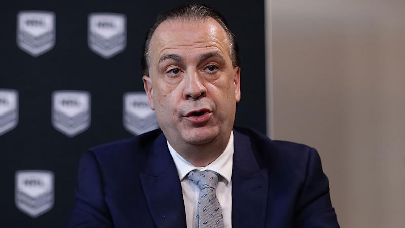 ARLC chairman Peter V'landys says the new rescue package will provide financial certainty to NRL clubs. Pic: Getty