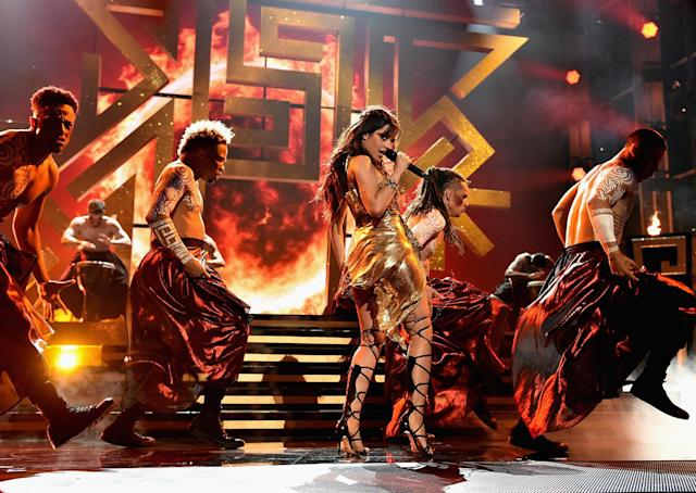 <p>Camila Cabello performs onstage during the 2017 Billboard Music Awards at T-Mobile Arena on May 21, 2017 in Las Vegas, Nevada. (Photo by John Shearer/BBMA2017/Getty Images for dcp) </p>