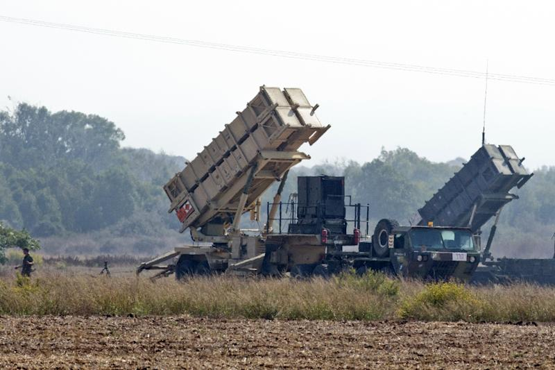 A Patriot missile battery (pictured October 2012) will also be deployed (AFP Photo/JACK GUEZ)
