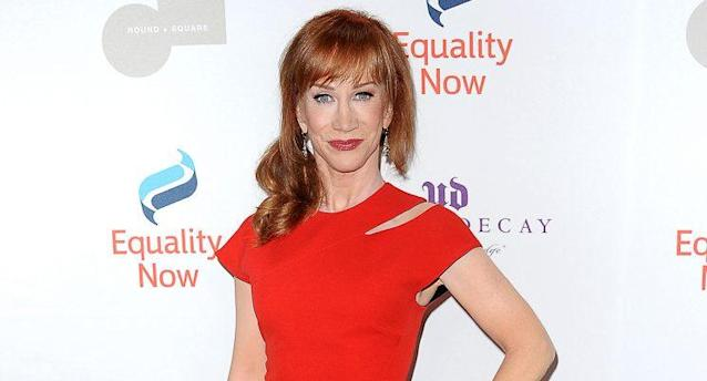 Kathy Griffin shaved her head to support her cancer-stricken sister. (Photo by Jason LaVeris/FilmMagic)
