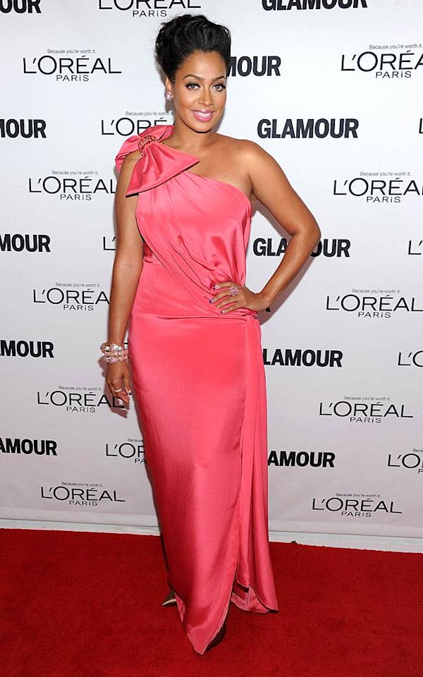 """La La Vasquez looked pretty in pink in her one-shoulder gown. """"Glamour Women Of the Year Awards..such an amazing and inspirational night w/unbelievable women!"""" the 32-year-old tweeted that evening. (11/7/2011)"""