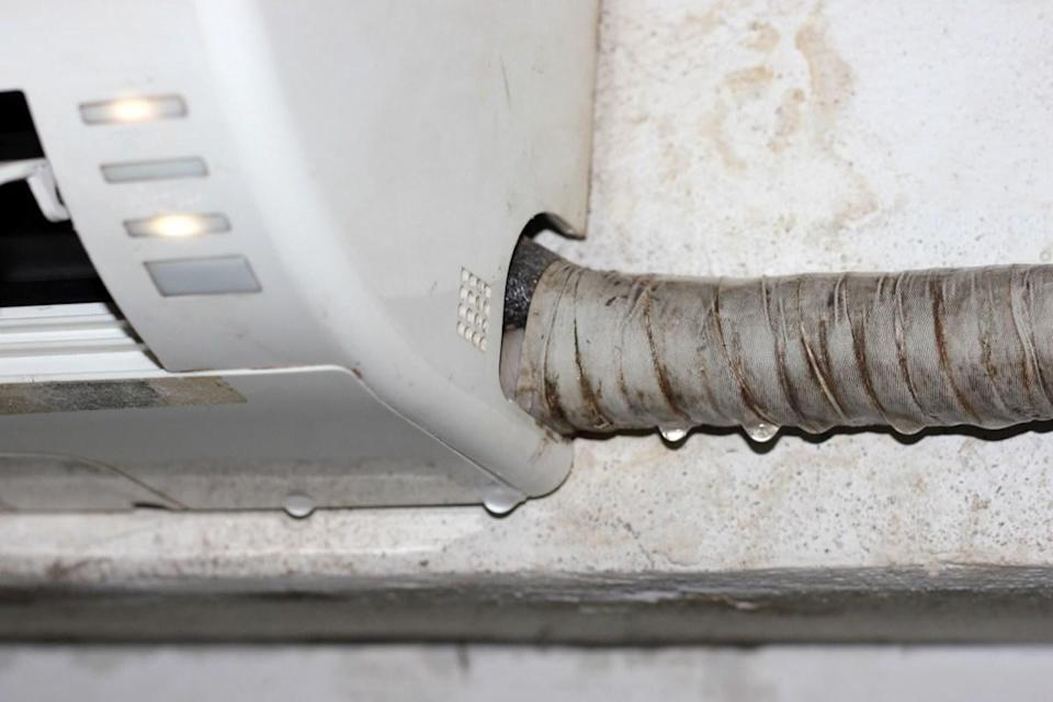 "That drip from your AC system's secondary drain pipe isn't a problem you can safely turn a blind eye to. A dripping secondary drain means the primary drain is clogged, explains <strong>Chris Forbus</strong>, owner of <a href=""https://www.choiceaircare.com"" rel=""nofollow noopener"" target=""_blank"" data-ylk=""slk:Choice Air Care"" class=""link rapid-noclick-resp"">Choice Air Care</a>. ""The secondary drain is just a backup, so if it also gets clogged, the pan will overflow, leaking down into the house,"" he says. This can quickly cause water damage and mold to develop if it's not dealt with immediately. Don't have AC at home? Check out these <a href=""https://bestlifeonline.com/cool-without-central-air/?utm_source=yahoo-news&utm_medium=feed&utm_campaign=yahoo-feed"" rel=""nofollow noopener"" target=""_blank"" data-ylk=""slk:15 Ways to Keep Your Home Cool Without Central Air"" class=""link rapid-noclick-resp"">15 Ways to Keep Your Home Cool Without Central Air</a>."