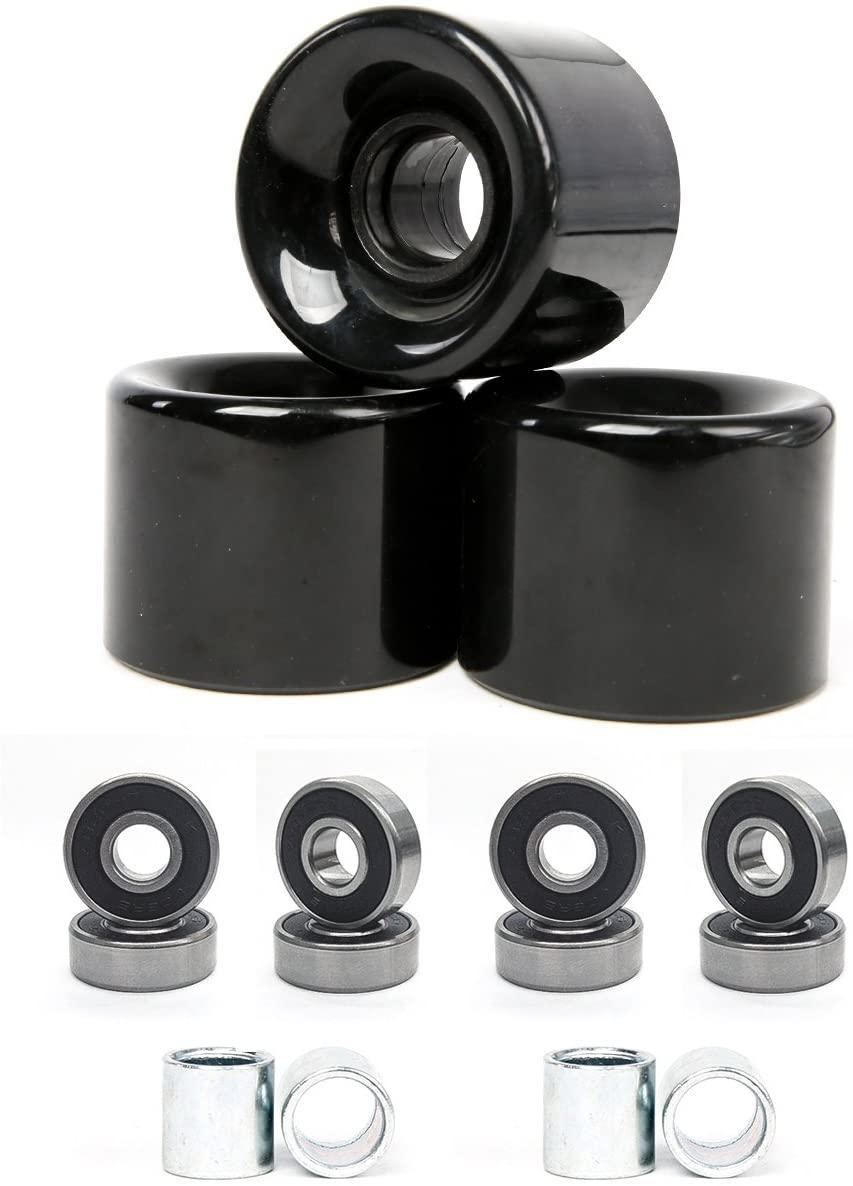 Freedare 58 mm Skateboard Wheels with bearings and spacers