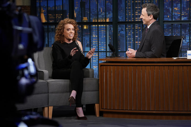 "The comedian's show was canceled as Netflix added several more talk shows to its lineup. She appears here on ""Late Night With Seth Meyers"" on May 9. (NBC via Getty Images)"
