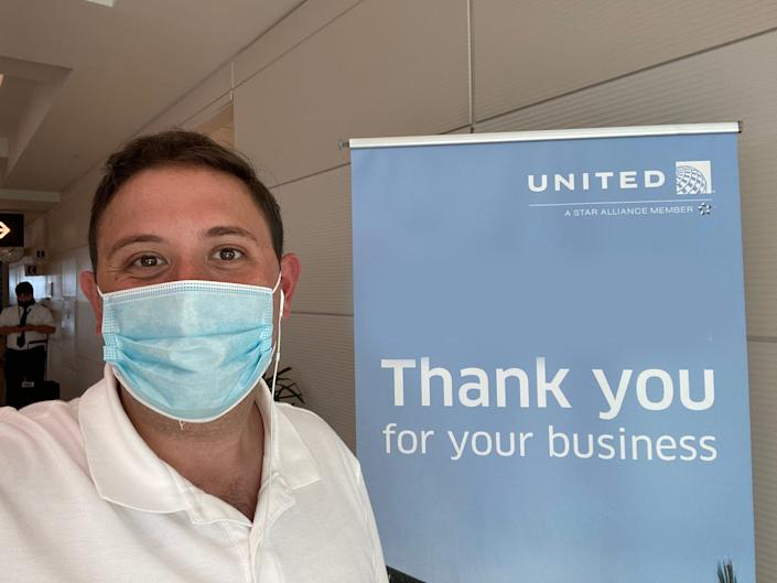 <br> Flying on United Airlines from Orlando to New York via Washington.