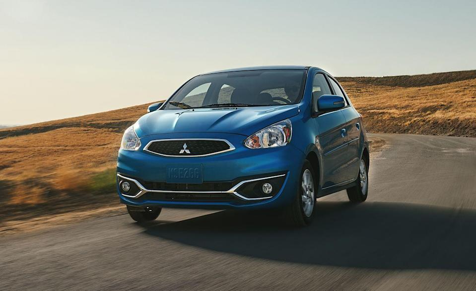 """<p>With prices starting around $15,000, Mitsubishi's smallest vehicle is <a href=""""https://www.caranddriver.com/features/g29414710/10-cheapest-new-cars-for-2020/"""" rel=""""nofollow noopener"""" target=""""_blank"""" data-ylk=""""slk:one of the most affordable new cars"""" class=""""link rapid-noclick-resp"""">one of the most affordable new cars</a> on the market. Only the Chevy Spark costs less. Though the <a href=""""https://www.caranddriver.com/mitsubishi/mirage"""" rel=""""nofollow noopener"""" target=""""_blank"""" data-ylk=""""slk:Mirage"""" class=""""link rapid-noclick-resp"""">Mirage</a> lacks power, refinement, and certain key driver-assistance features, it does offer impressive interior space, solid warranty coverage, strong fuel economy, and, according to owners surveyed by JD Power, excellent initial quality.</p><p>Available as a four-door sedan and five-door hatchback, the Mirage is powered by a noisy 1.2-liter three-cylinder engine that makes just 78 horsepower. That's light, even for this class. In our testing, zero to 60 mph takes nearly 13 seconds. ES, LE, SE, and GT trim levels are offered, and most include a CVT automatic transmission, though a five-speed manual is standard on the ES. EPA fuel economy estimates with the CVT are 36 mpg city and 43 mpg highway. This year, Mitsubishi made an automatic climate control system standard on all models.</p>"""