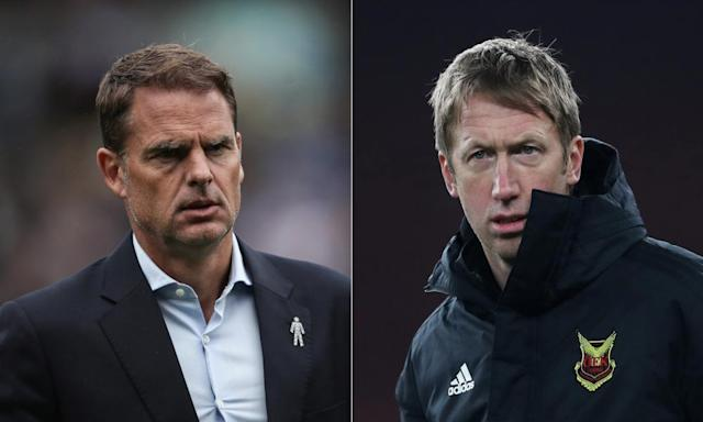 Frank de Boer and Graham Potter lead race to take Swansea manager's job